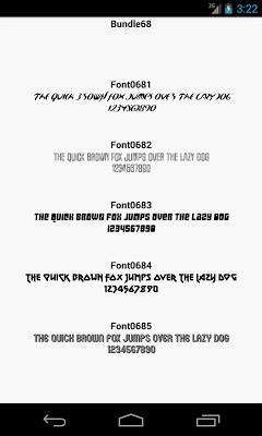 Fonts for FlipFont 68 - screenshot