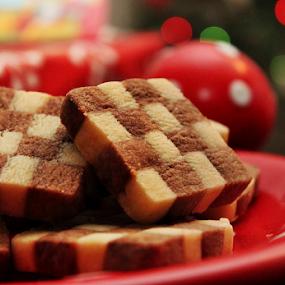 Checkerboard Cookies by Vrinda Mahesh - Food & Drink Candy & Dessert ( desserts, christmas cookies, holiday cookies, checkerboard cookis, cookies, baked, checker board,  )