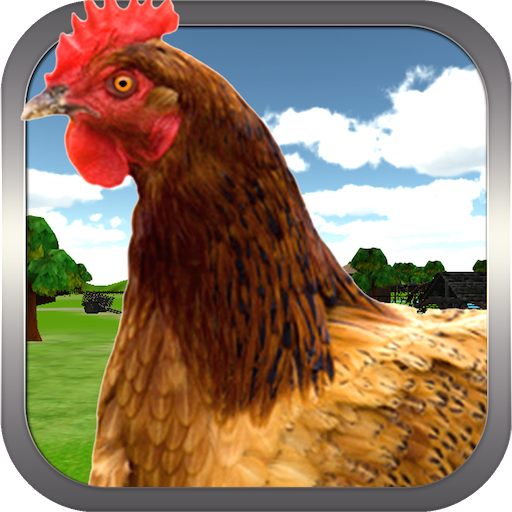 瘋狂的雞3D模擬器 模擬 LOGO-阿達玩APP
