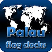 Palau flag clocks