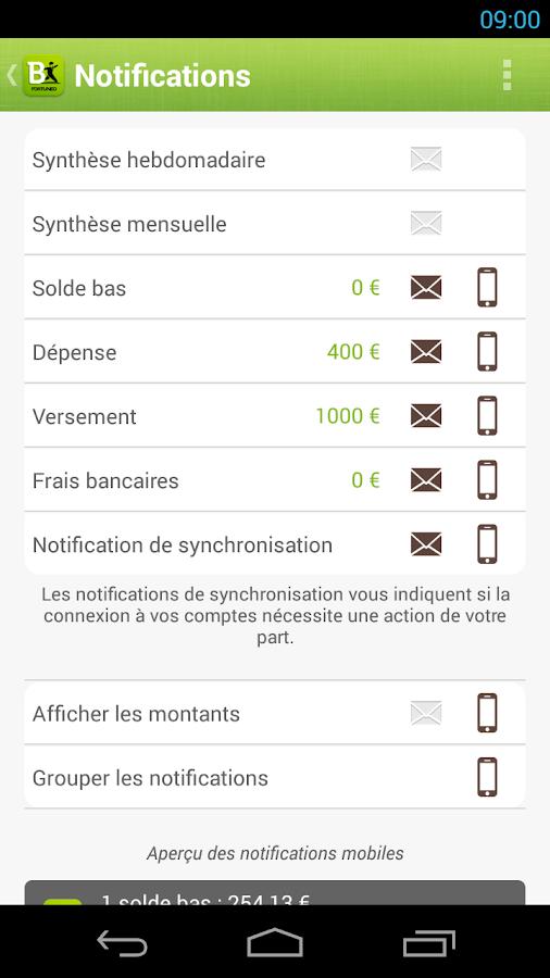 Fortuneo Budget - screenshot
