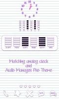 Screenshot of Scribbles Purple Analog Clock