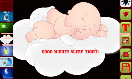 Good Night Greetings Maker