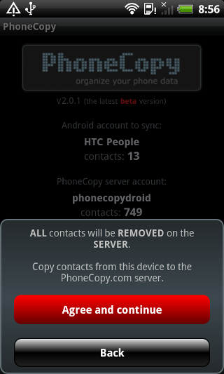 PhoneCopy - screenshot