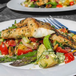 Greek Style Fish Salad.