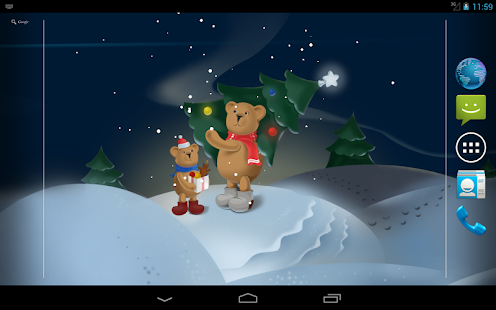Christmas Bears Live Wallpaper - screenshot thumbnail