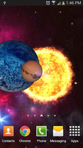 Orbit Space 3D Live Wallpaper