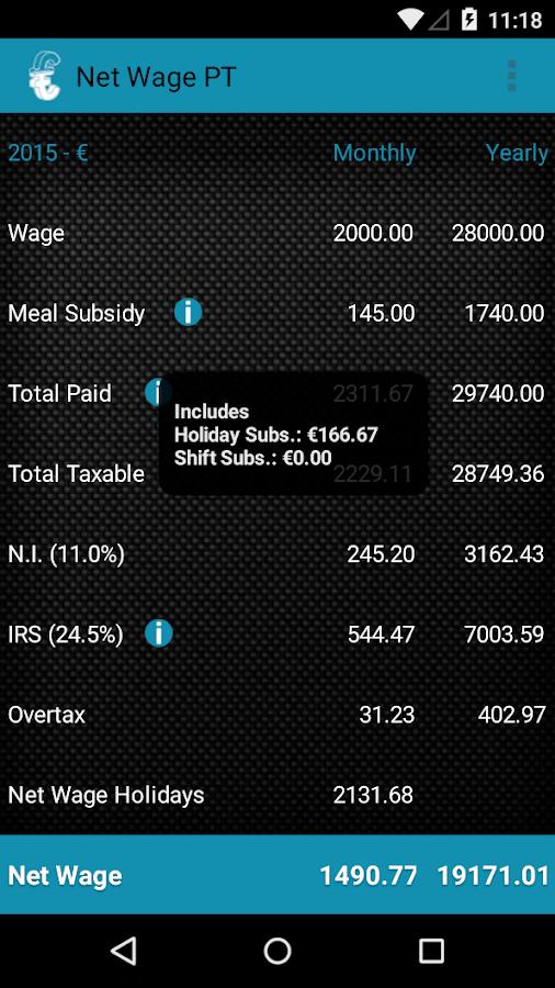 Simulador Salário Líquido - screenshot