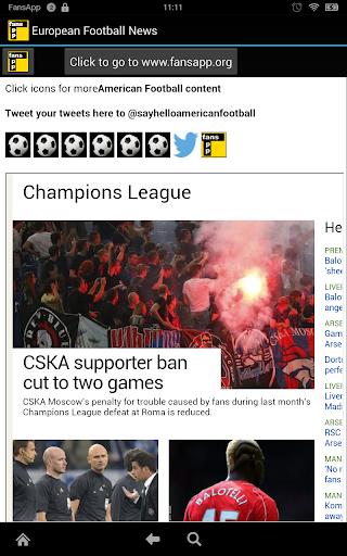 European Football News FansApp