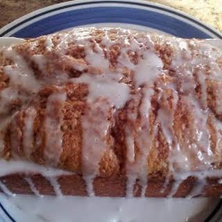 Cinnamon Roll Quick Bread.