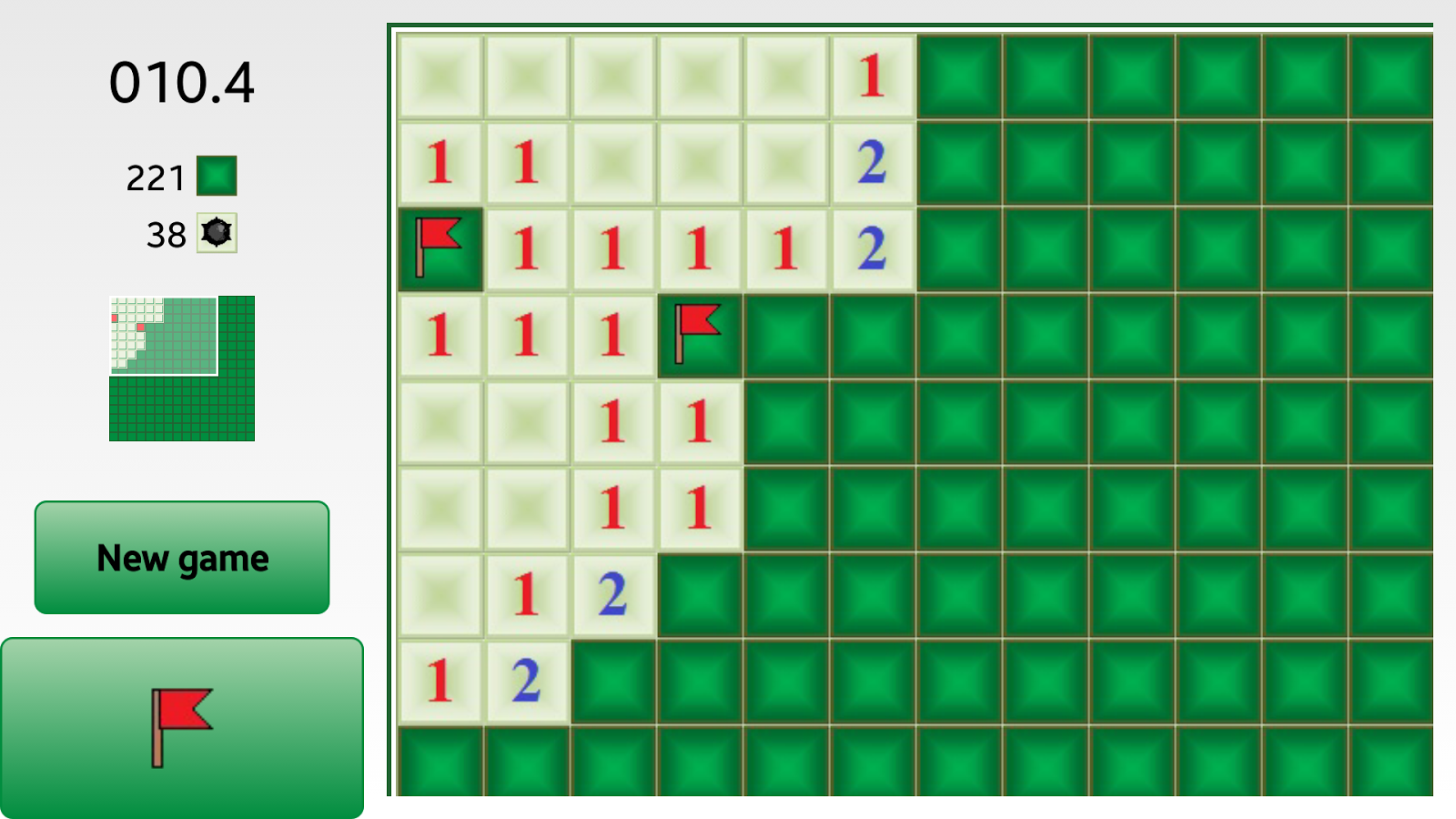 Blind-Droid Minesweeper - screenshot