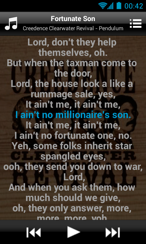 MusicMax Lyrics Player Free - screenshot