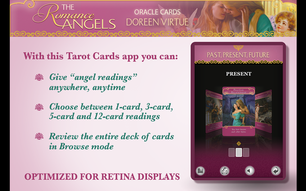 Romance Angels Oracle Cards- screenshot