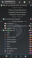 Screenshot of TeamSpeak 3