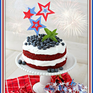 Red White and Blue Cake for July 4th.