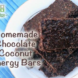 Chocolate Coconut Energy Bars.