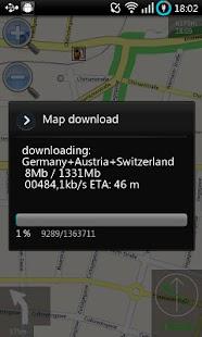 Navit für Android – Miniaturansicht des Screenshots