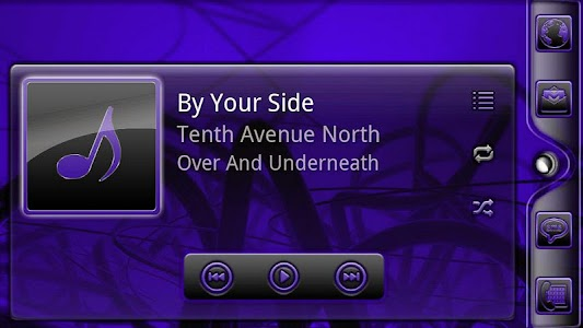Serenity UberMusic Skin Purple screenshot 5