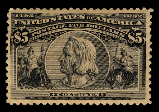 $5 Christopher Columbus stamp