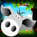 Farm animals for toddlers HD logo