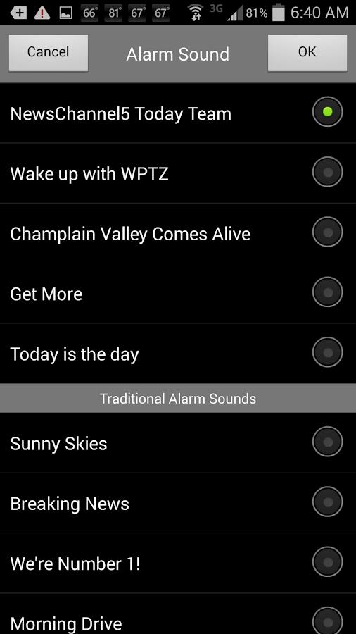 Alarm Clock WPTZ NewsChannel 5- screenshot