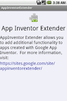 Screenshot of AppInventor Extender