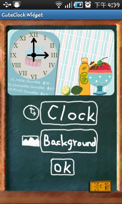 CuteClock Widget- screenshot