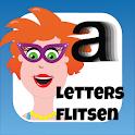 Juf Jannie - letters flitsen icon