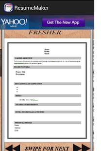 auto resume generator screenshot thumbnail