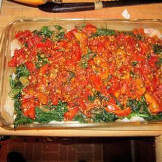 Haddock, Spinach and Tomato Bake