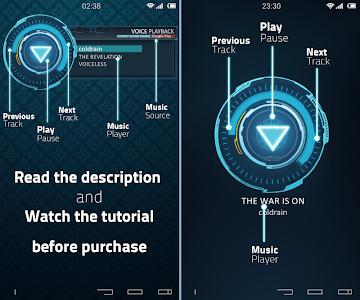 Iron UI Music Widget UCCW skin — AndroidHIT Apps