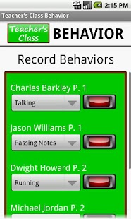 Teacher's Class BEHAVIOR PRO - screenshot thumbnail