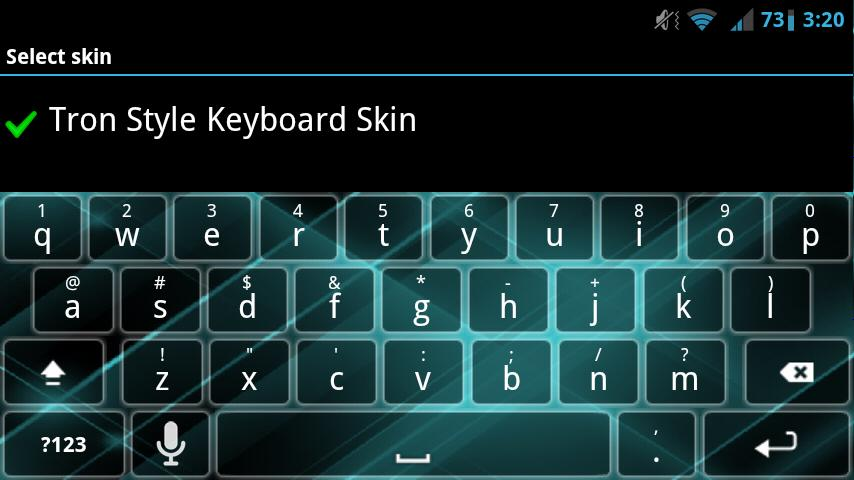 Tron Style Keyboard Skin- screenshot
