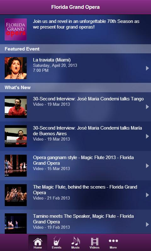 Florida Grand Opera- screenshot