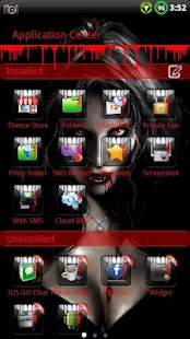 Vampire GO SMS Theme - screenshot thumbnail