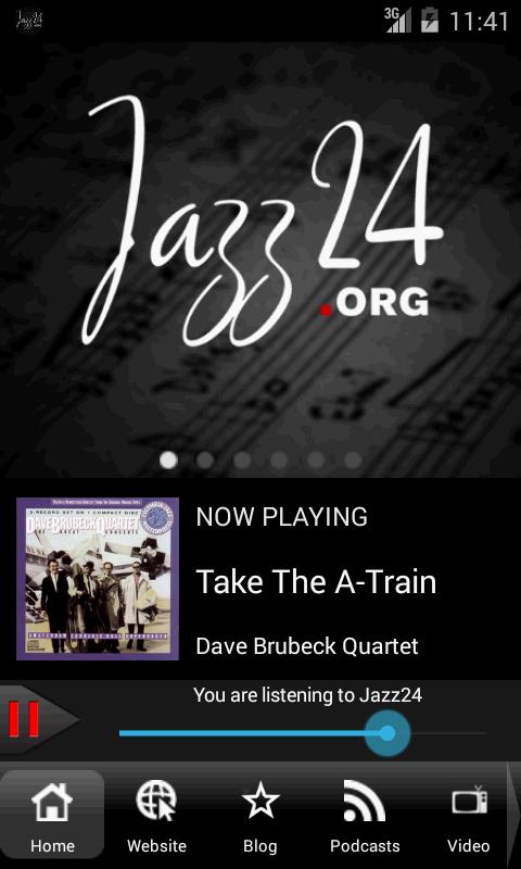 Jazz24: Streaming Jazz 24/7 - screenshot