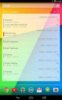 Screenshot of Calendar Widget