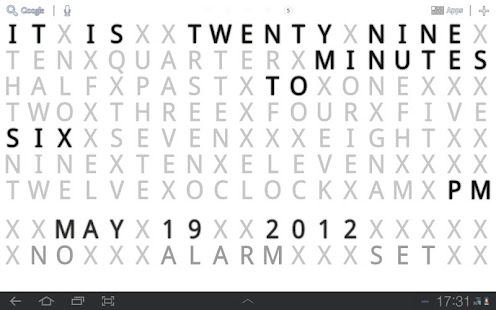 Text Clock Live Wallpaper - screenshot thumbnail
