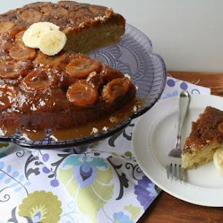Bananas Bourbon Upside Down Cake