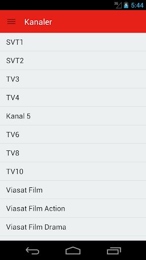 Swedish Television Guide Free