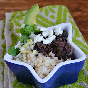 Brown Rice with Beans and Salsa