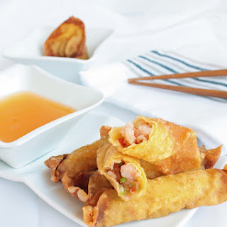 Shrimp in Wonton Wrappers.