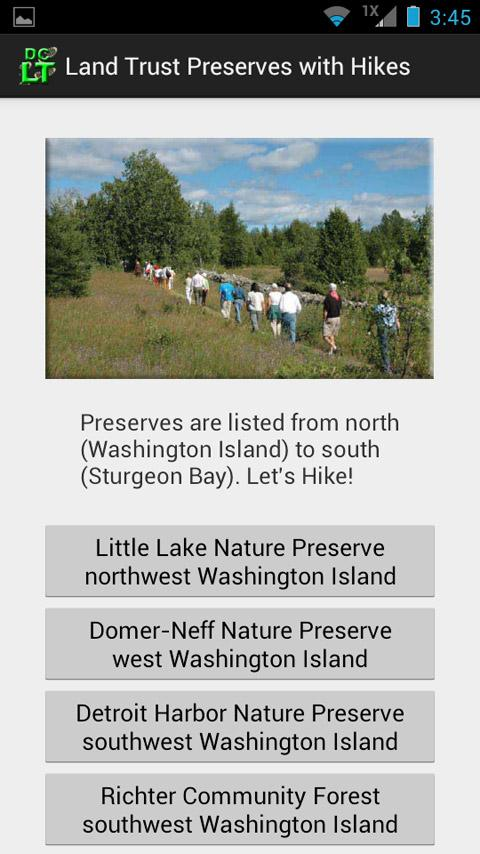 Door County Land Trust Hikes- screenshot