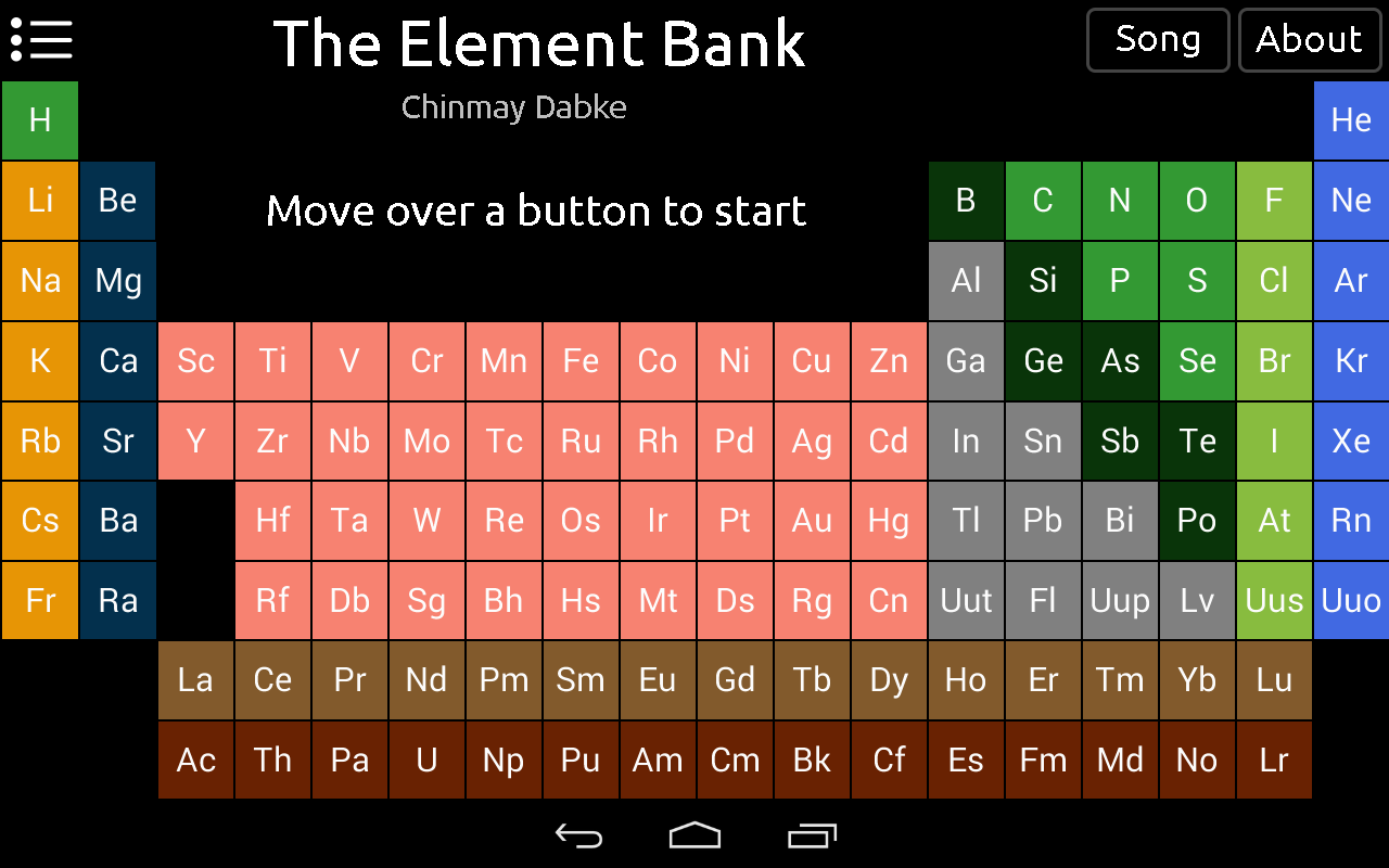 Element Bank : Periodic Table- screenshot