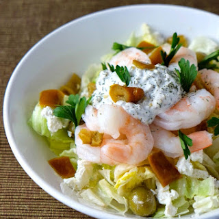 Mediterranean Shrimp Salad for Two