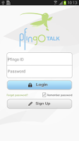 Screenshot of pfingoTalk