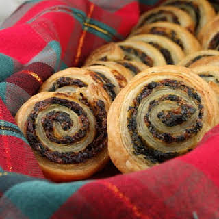 Spinach & Sundried Tomato Puff Pastry Pinwheels.