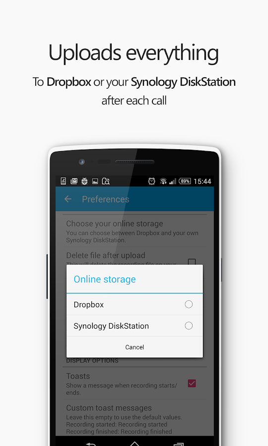 Free phone call recorder app that uploads to DiskStation