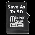 SaveAs to SDCard icon