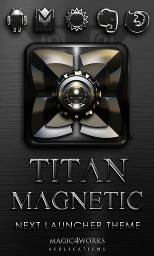 Next Launcher Theme Magnetic